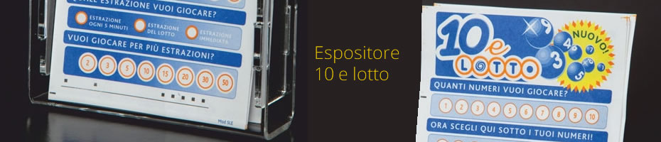 Espositore 10 e lotto singolo